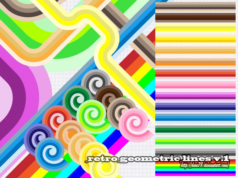 Retro Geometric Lines v.1 (Illustrator Brush)
