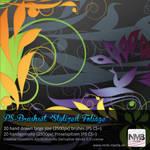 20 decorative stylized Foliage Brushes