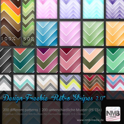 200 Retro Stripe Pattern PS CS+ (uni-/multicolor) by Hexe78