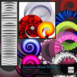 25 Illustrator (CS+) Fun Brushes II