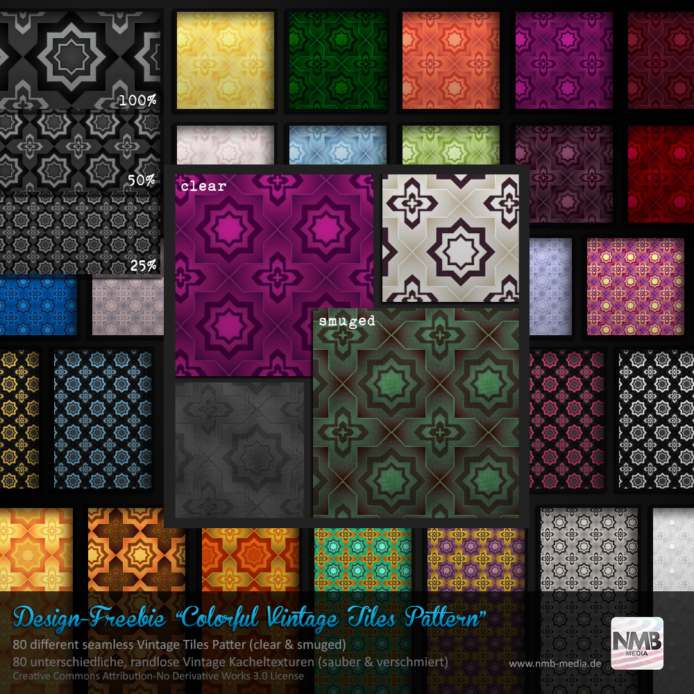 80 PS CS+ Colorful Vintage Floor Tiles Pattern by Hexe78 ...