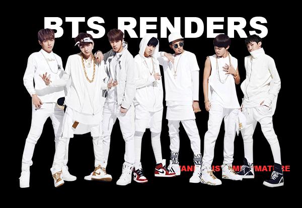 renders pack: bangtan boys N.O by vanillaisyummy