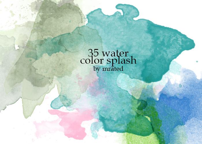 Watercolor splash stock by vanillaisyummy
