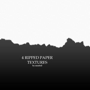 4 ripped paper textures