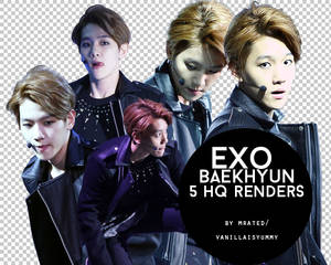 (ZIP) Baekhyun EXO - 5 HQ render PNG by m-rated