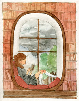 Her reading nook - animation!