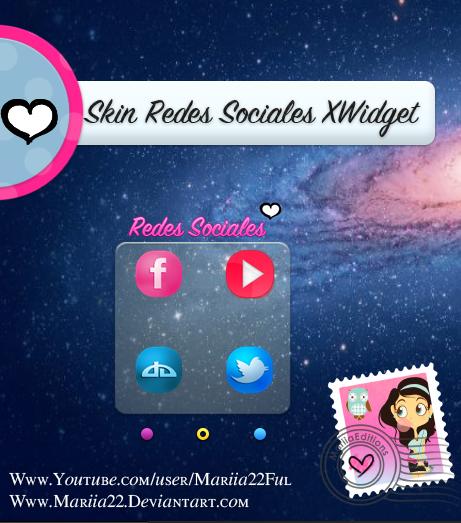Skin De XWidget Redes Sociales by Mariia22