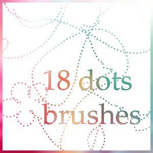 dots brushes by Xxhalawaxx