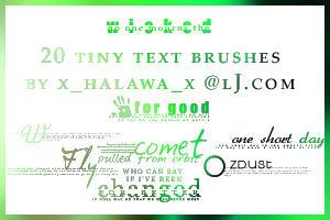 20 Wicked Tiny Text Brushes