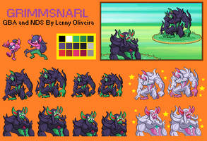 Grimmsnarl sprite GBA and NDS