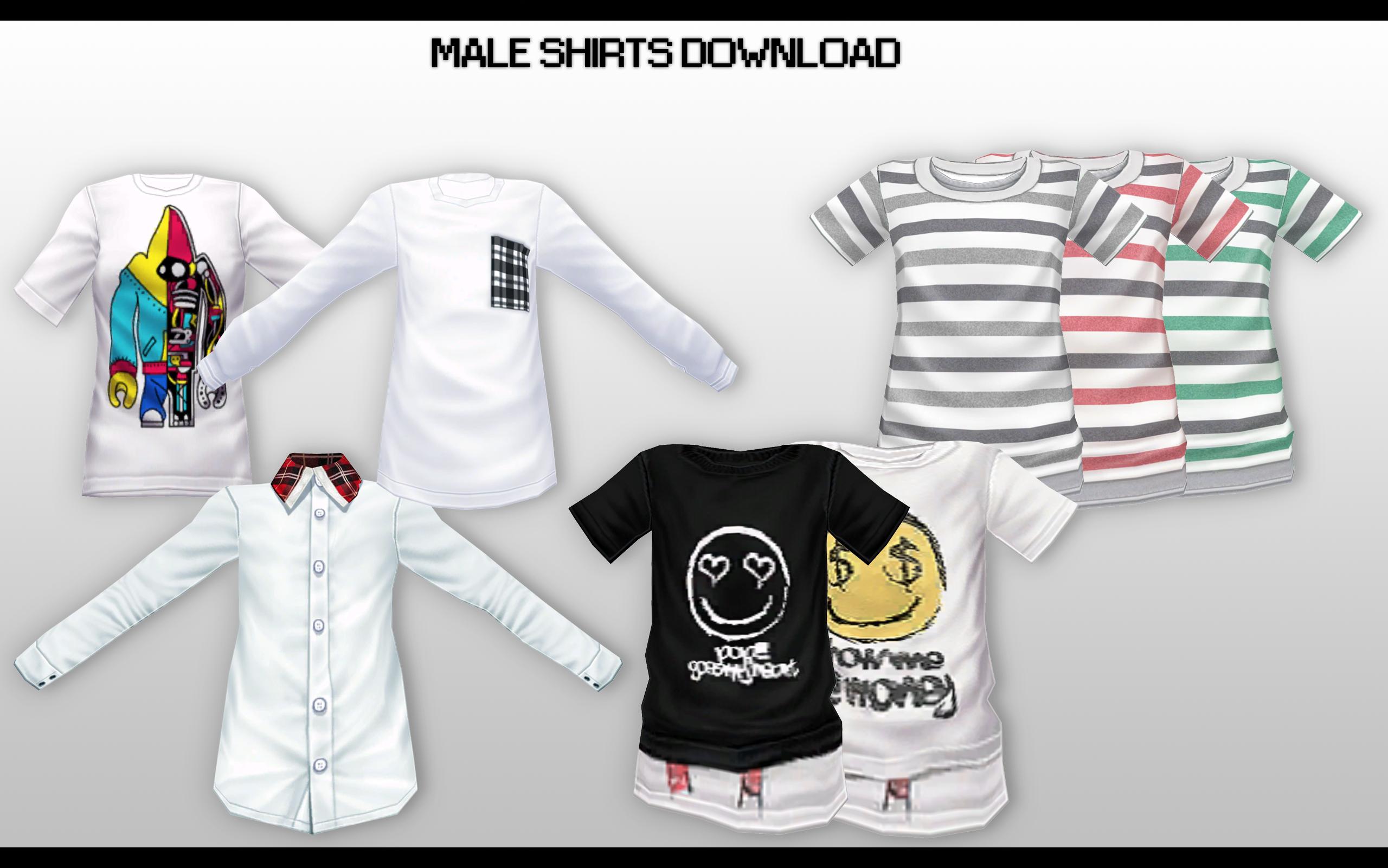 66399fd25e23 Sims 4 Male Band Shirts