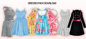 MMD Dresses Pack DL
