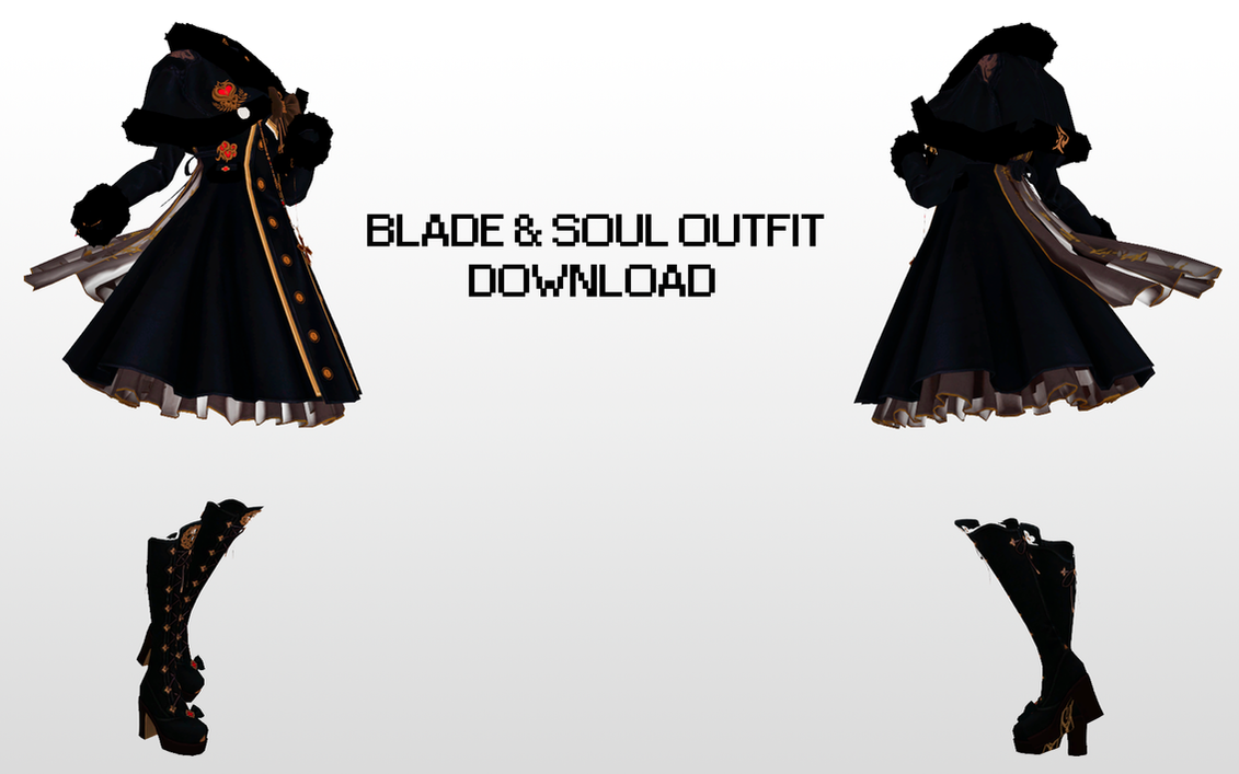 MMD Blade And Soul Outfit Dl By UnluckyCandyFox On DeviantArt