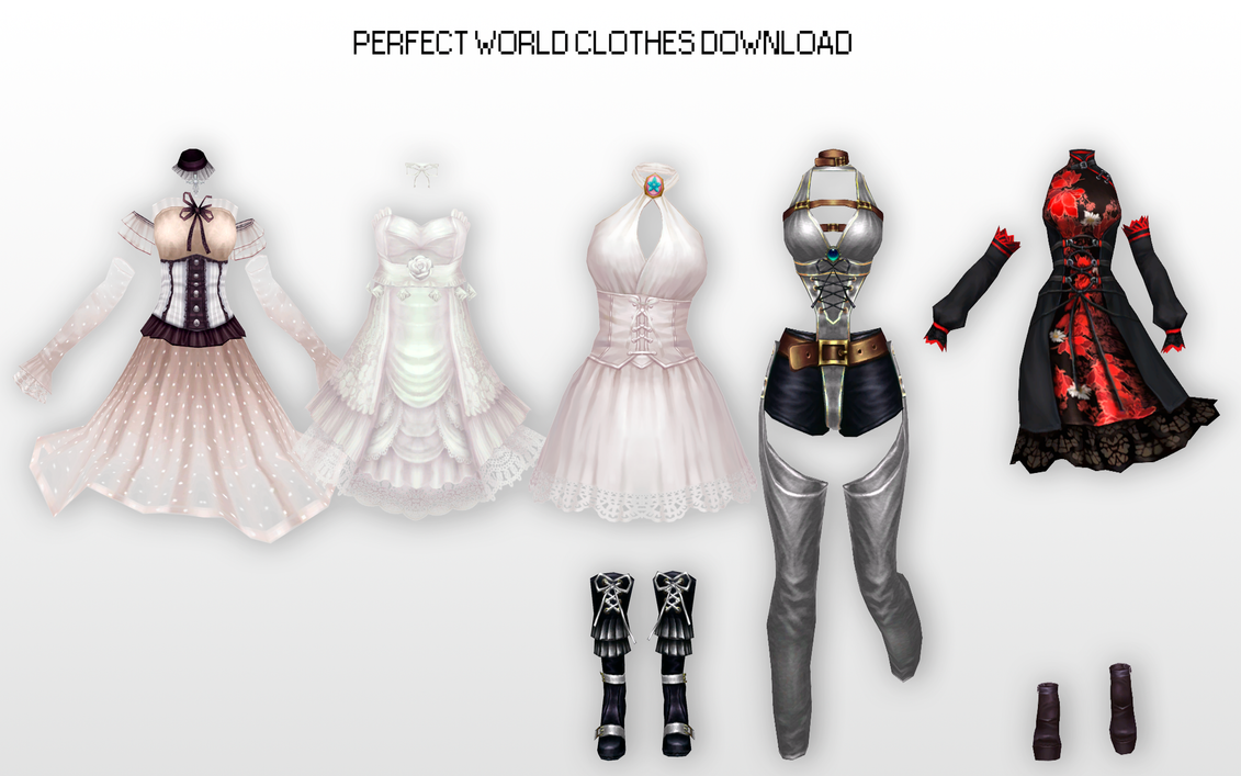 MMD Perfect World Clothes DL by UnluckyCandyFox