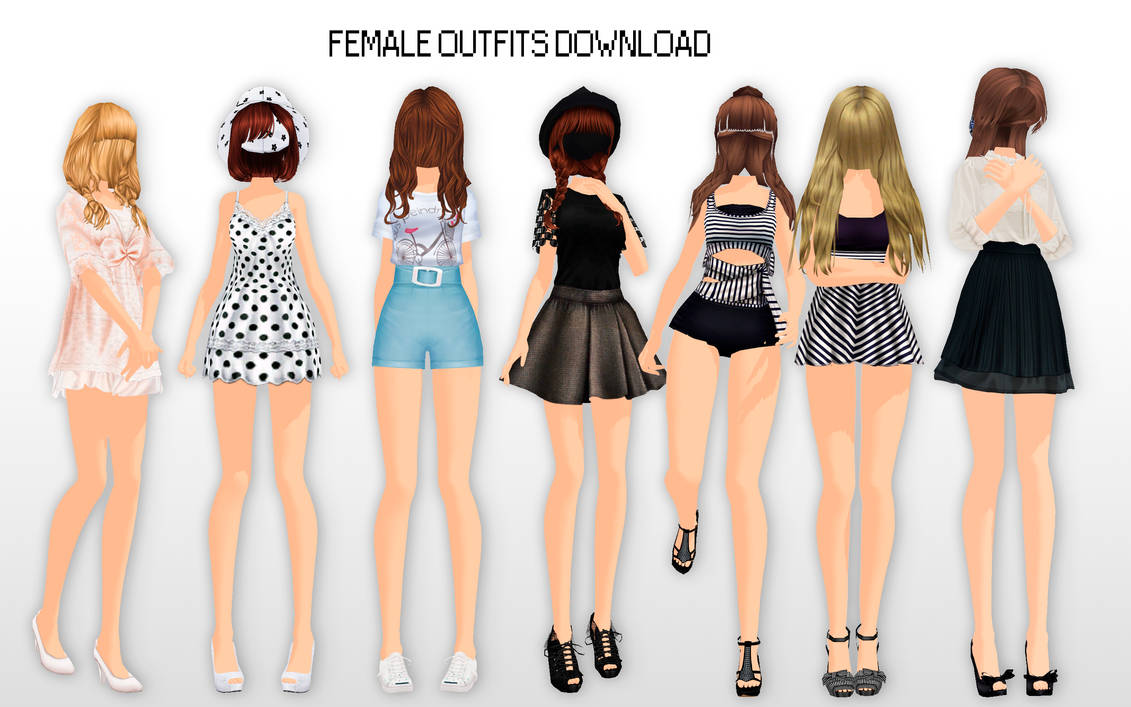 MMD Female Outfits DL By UnluckyCandyFox On DeviantArt