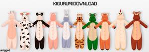 (unrig) MMD Kigurumi DL