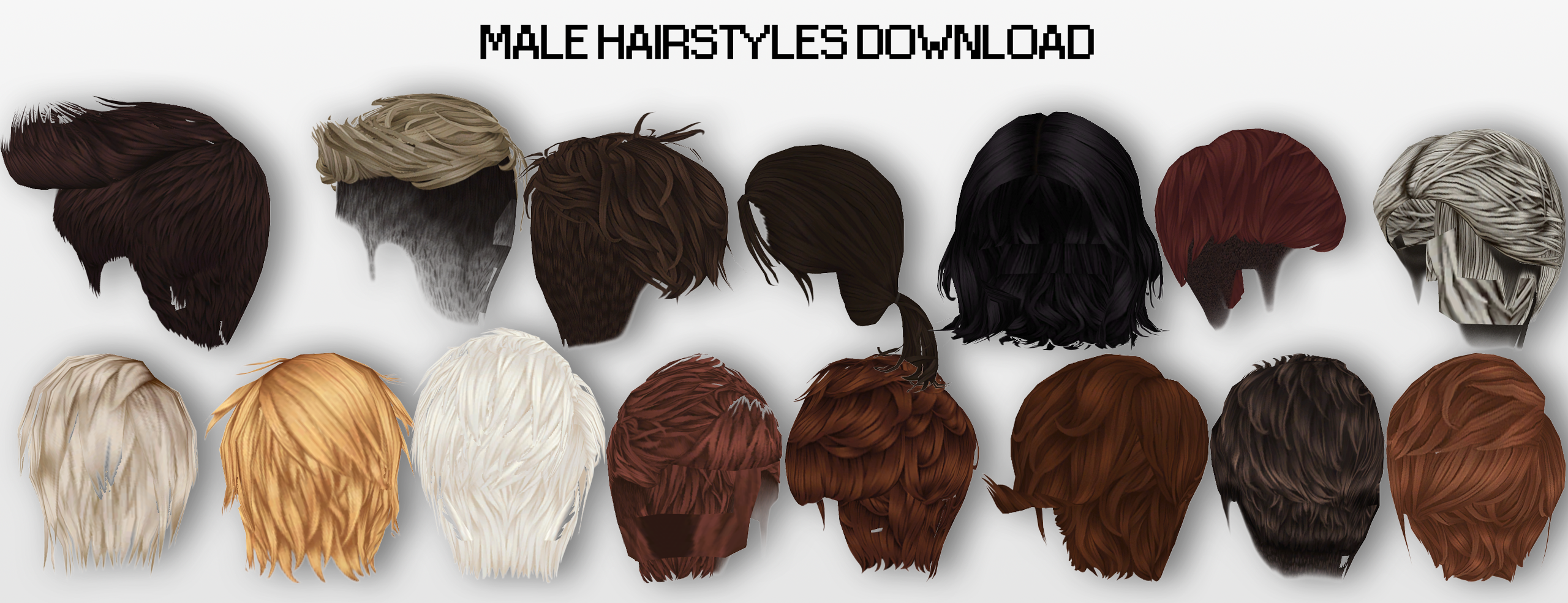 Hair Style 3d Image: MMD Male Hairstyles DL By UnluckyCandyFox On DeviantArt