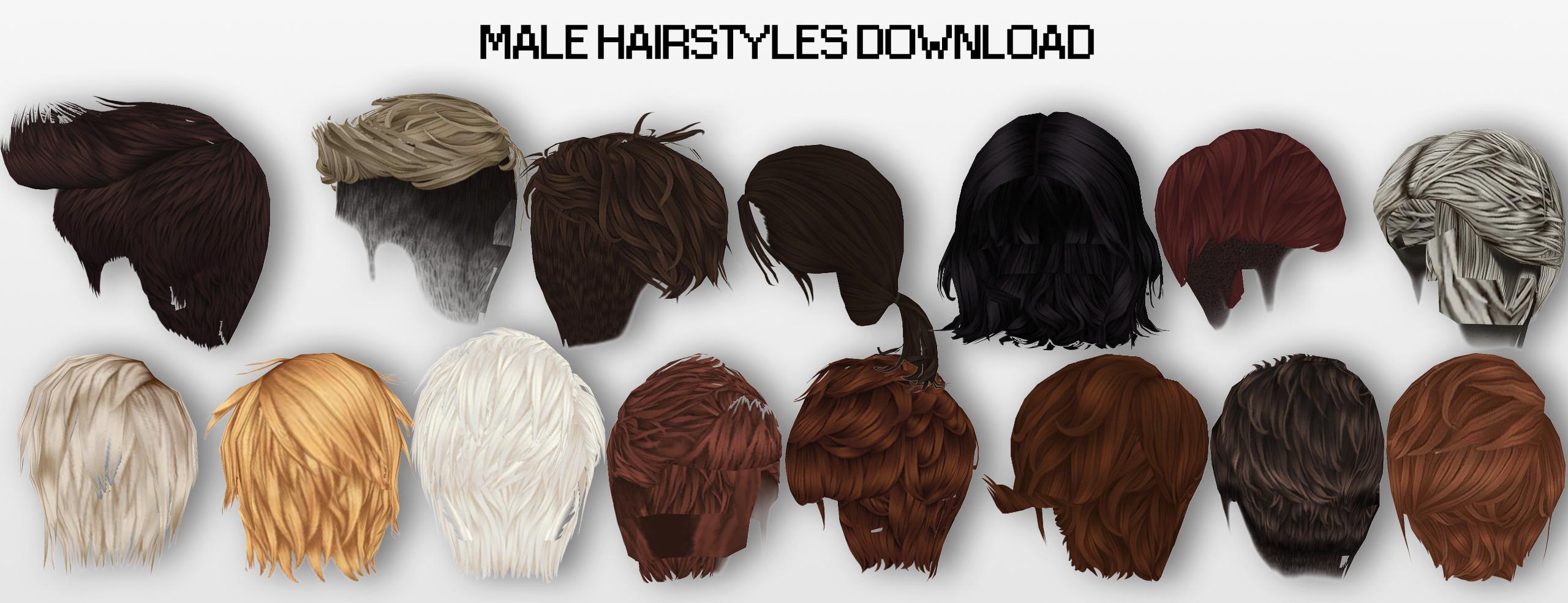 Mmd Male Hairstyles Dl By Unluckycandyfox On Deviantart