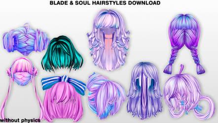MMD BnS Hairstyles DL by UnluckyCandyFox