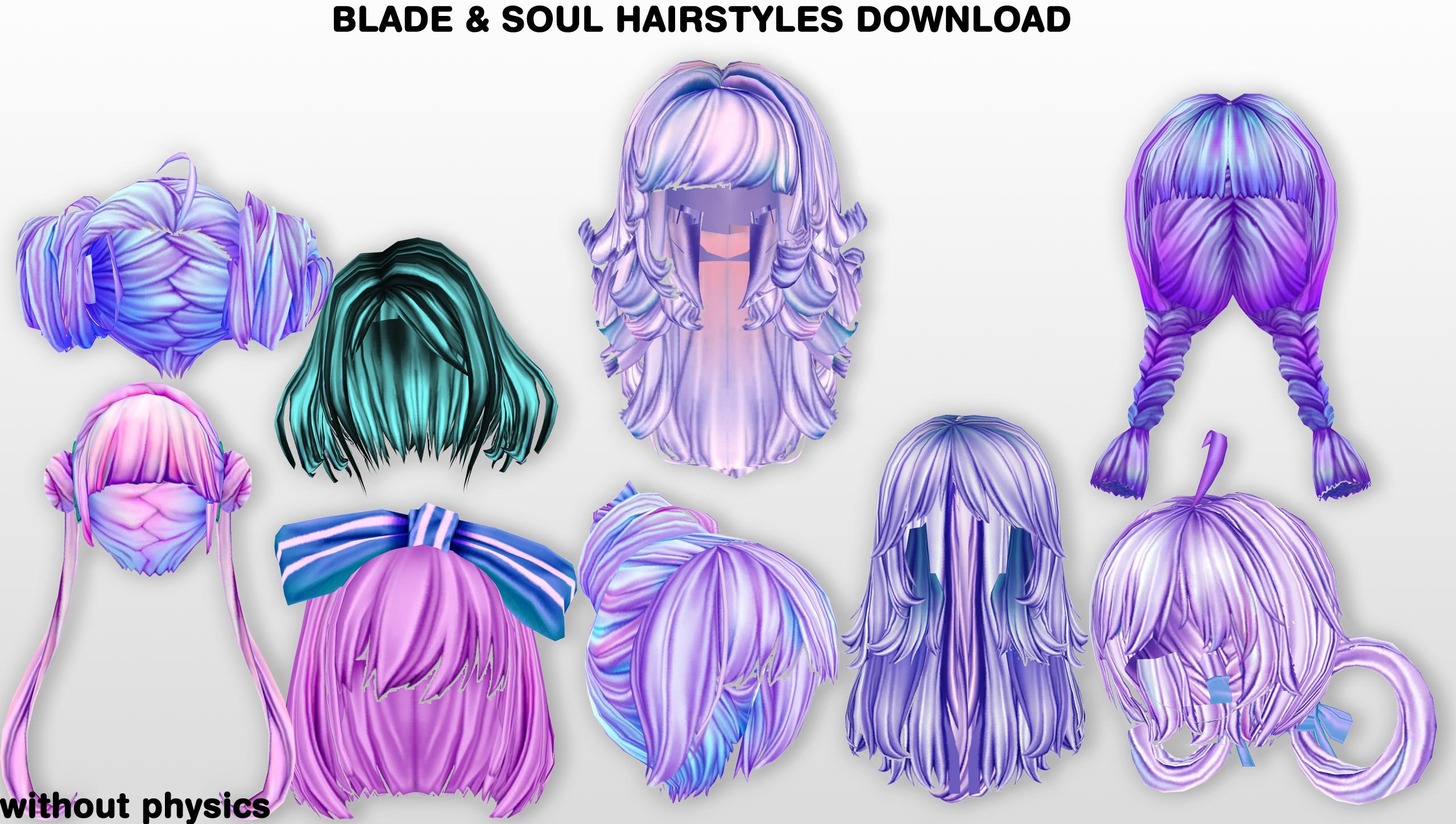 MMD BnS Hairstyles DL By UnluckyCandyFox On DeviantArt