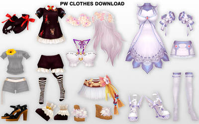 MMD PW Clothes DL by UnluckyCandyFox