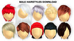 MMD Male Hairstyles DL