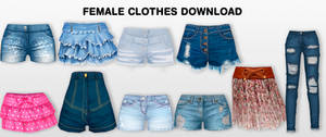 MMD Female Clothes DL