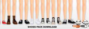 MMD Shoes pack DL by UnluckyCandyFox