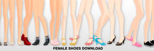 MMD Female shoes DL by UnluckyCandyFox