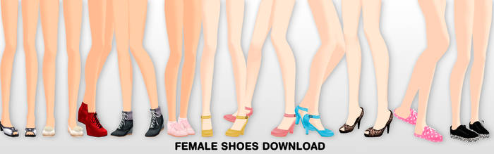 MMD Female shoes DL by UnluckyCandyFox