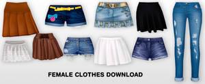 MMD Fem clothes DL