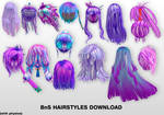 MMD BnS Hairstyles DL