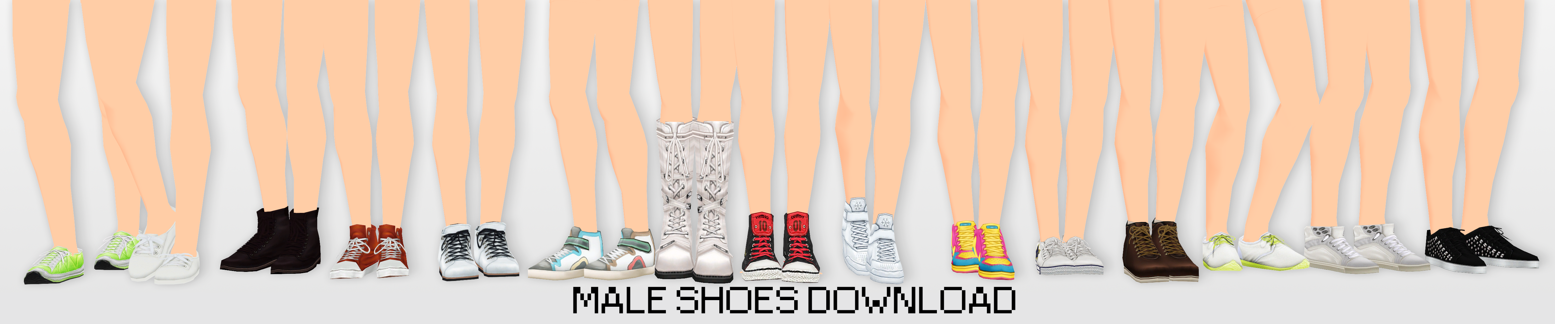 MMD Male Shoes DL
