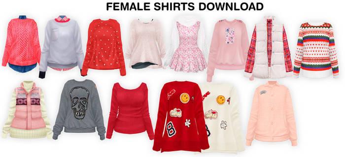 MMD Female shirts DL
