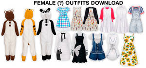 MMD Female Outfits DL