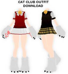 MMD Elin Cat Cub outfit DL