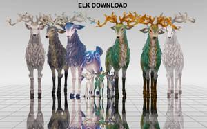 MMD Elk DL by UnluckyCandyFox