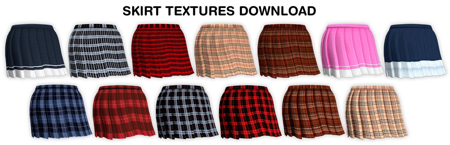 MMD AA2 Skirt textures DL