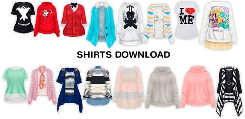 MMD Female Shirts DL by UnluckyCandyFox