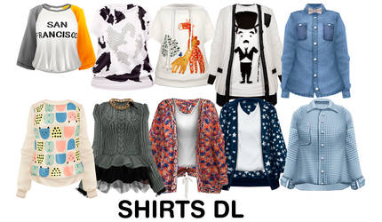 [MMD] Shirts DL