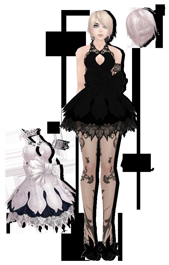 MMD]Dollie + hair and dress DL by UnluckyCandyFox on DeviantArt