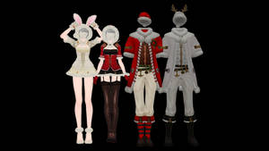 [MMD X New Year gifts] Costumes DL