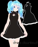[MMD DL] too simple dress by UnluckyCandyFox