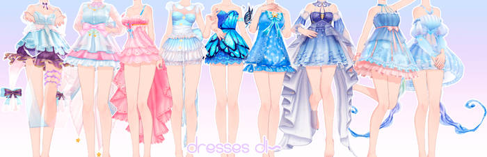 [MMD DL]Dresses pack