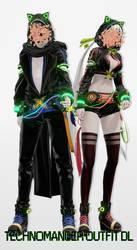 [MMD DL] Technomancer outfit by UnluckyCandyFox