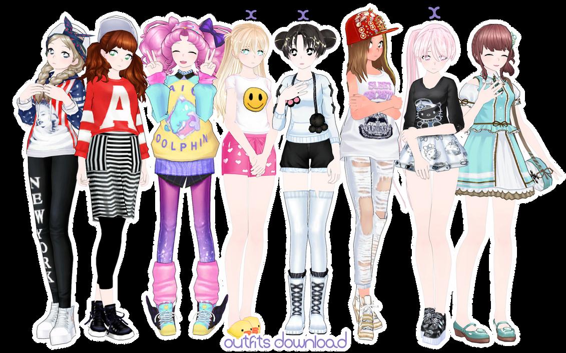 Mmd Pw Outfits Dl By Unluckycandyfox Deviantart – Wonderful