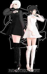 [MMD P2U] Gothic Outfit