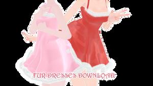 [MMD DL] Fur dress