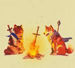 Bonfire boi and his little fren