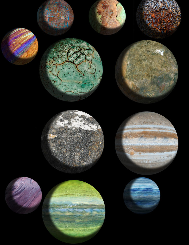 Large Planets by chundertunt on DeviantArt